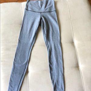 Striped Gray Lululemon Leggings